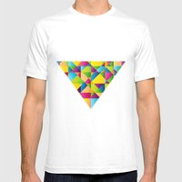 Vibrant Mens Fitted Tee White SMALL