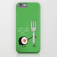 iPhone & iPod Case featuring Sushi doesn't care by Wawawiwa design