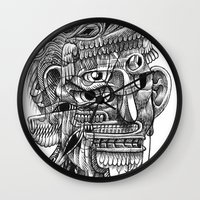 Fright 3 Wall Clock
