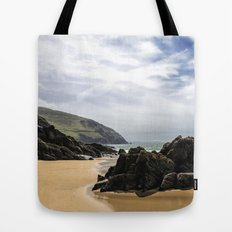 Peaceful sand and ocean Tote Bag