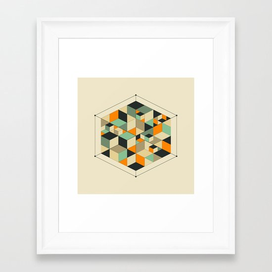 Cube Framed Art Print