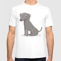 Weimaraner - Cute Dog Series Mens Fitted Tee White SMALL