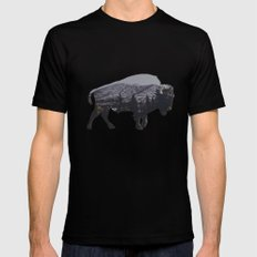 The American Bison SMALL Mens Fitted Tee Black