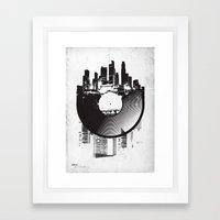 Urban Vinyl Framed Art Print