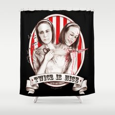 Tattler Twins (edited) Shower Curtain