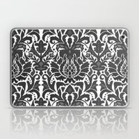 Aya damask mono Laptop & iPad Skin