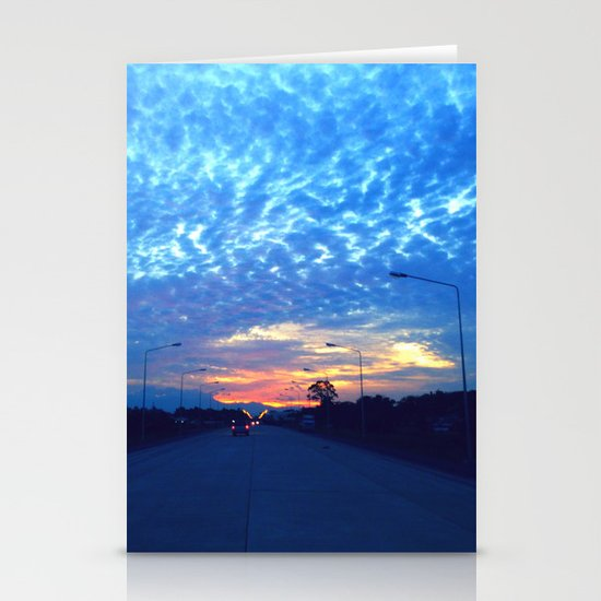 On The Road Stationery Card