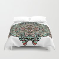 Abstract Waves of Thoughts Duvet Cover