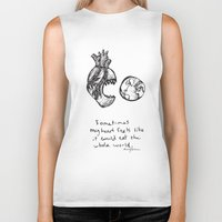 For The Heart-hungry Biker Tank