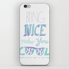 Being Nice iPhone & iPod Skin