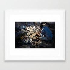 Master Potter Framed Art Print
