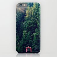 Red In Woods iPhone 6 Slim Case