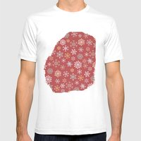 Christmas Snow Mens Fitted Tee White SMALL