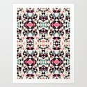 Retro Light Tribal Art Print