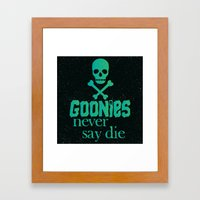 Goonies never say die Framed Art Print