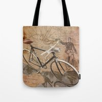 vintage bicycle hipster Tote Bag
