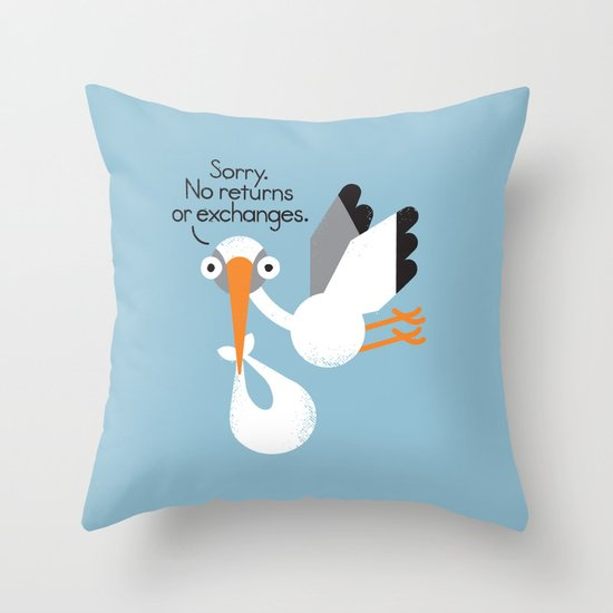 Delivery Policy Throw Pillow