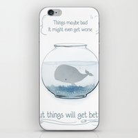 Whale In A Fishbowl iPhone & iPod Skin