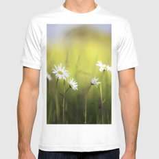 Daisy Landscape SMALL White Mens Fitted Tee