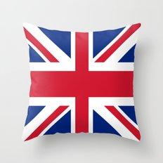 Flag of UK Throw Pillow