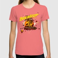 Baewatch - Wet Electric Womens Fitted Tee Pomegranate SMALL