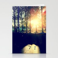 Backyard Sunset Stationery Cards
