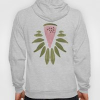 Watermelon And Leaves Hoody