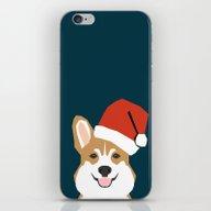 Corgi Christmas  Santa C… iPhone & iPod Skin