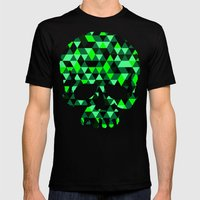 Triangle Camouflage Skull (BLACK) Mens Fitted Tee Black SMALL