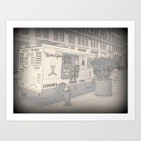 NY Ice Cream Art Print