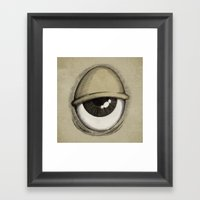 GIVE ME SOME COFFEE Framed Art Print