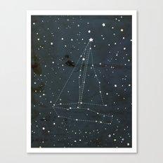 Constellation Sail Boat Canvas Print