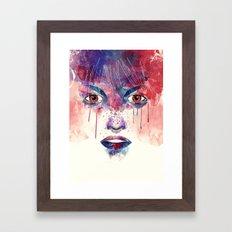 Um rosto aquarelável Framed Art Print