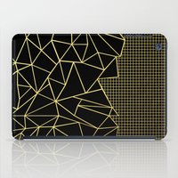 Ab Outline Grid Black and Gold iPad Case
