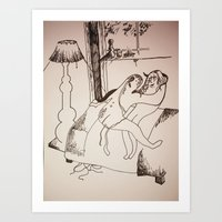 Safe Sex Art Print