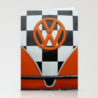 VW Checkers Stationery Cards