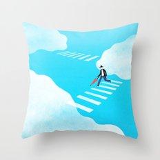 Walking on the sky Throw Pillow