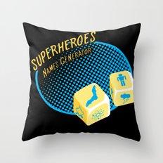 Super-Heroes-Name-Generator Throw Pillow