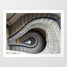Staircase to Prague Art Print