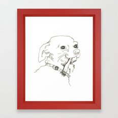 Ole Doggo Framed Art Print