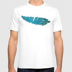 shablamers Mens Fitted Tee White SMALL