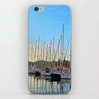Harbor: Barcelona, Spain iPhone & iPod Skin