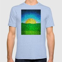 Setting Sun Mens Fitted Tee Tri-Blue SMALL