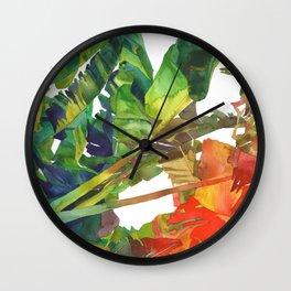 Wall Clock - Bananas leaves - takmaj