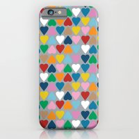 Up And Down Hearts On Gr… iPhone 6 Slim Case