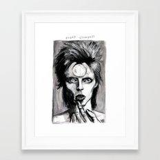ziggy stardust Framed Art Print