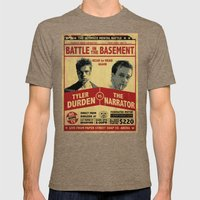 Fight Club Fight Poster Mens Fitted Tee Tri-Coffee SMALL
