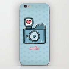 Blue Smile iPhone & iPod Skin