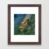 Monarch Moment Framed Art Print