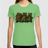 STAR WARS The Three Wise… Womens Fitted Tee Grass SMALL